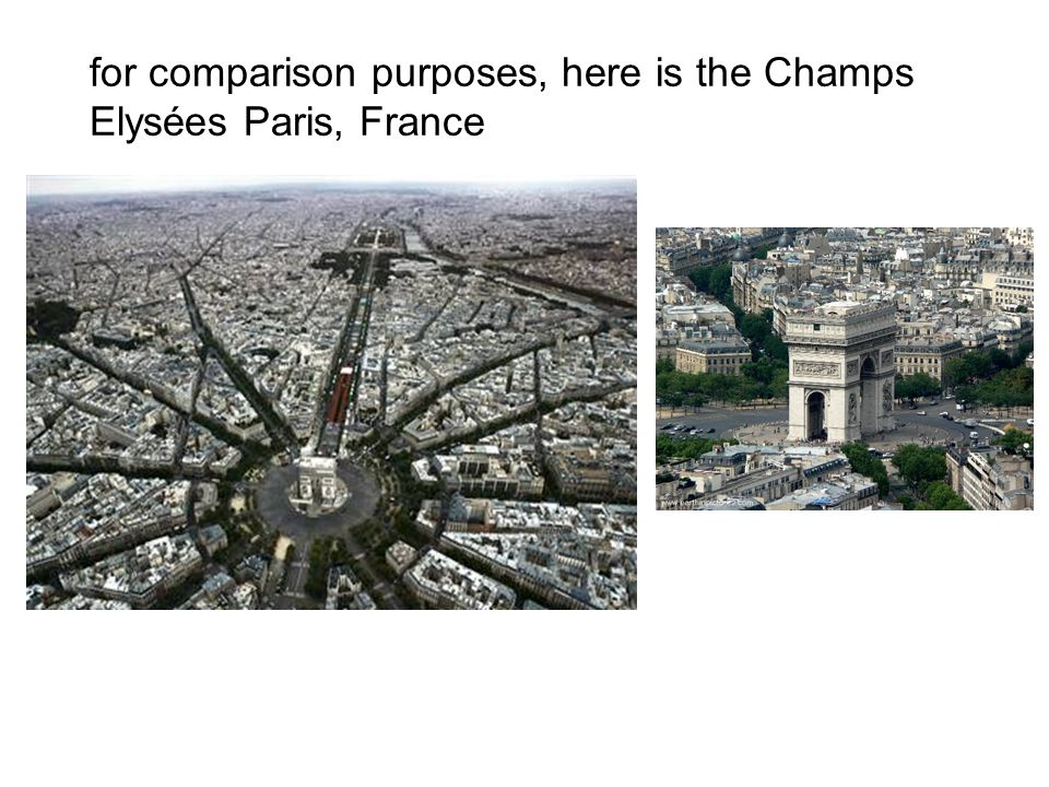 for comparison purposes, here is the Champs Elysées Paris, France