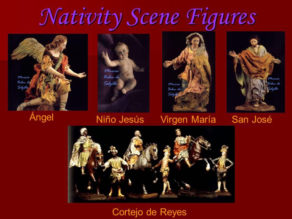 Nativity Scene Figures Ángel Niño JesúsVirgen MaríaSan José Cortejo de Reyes