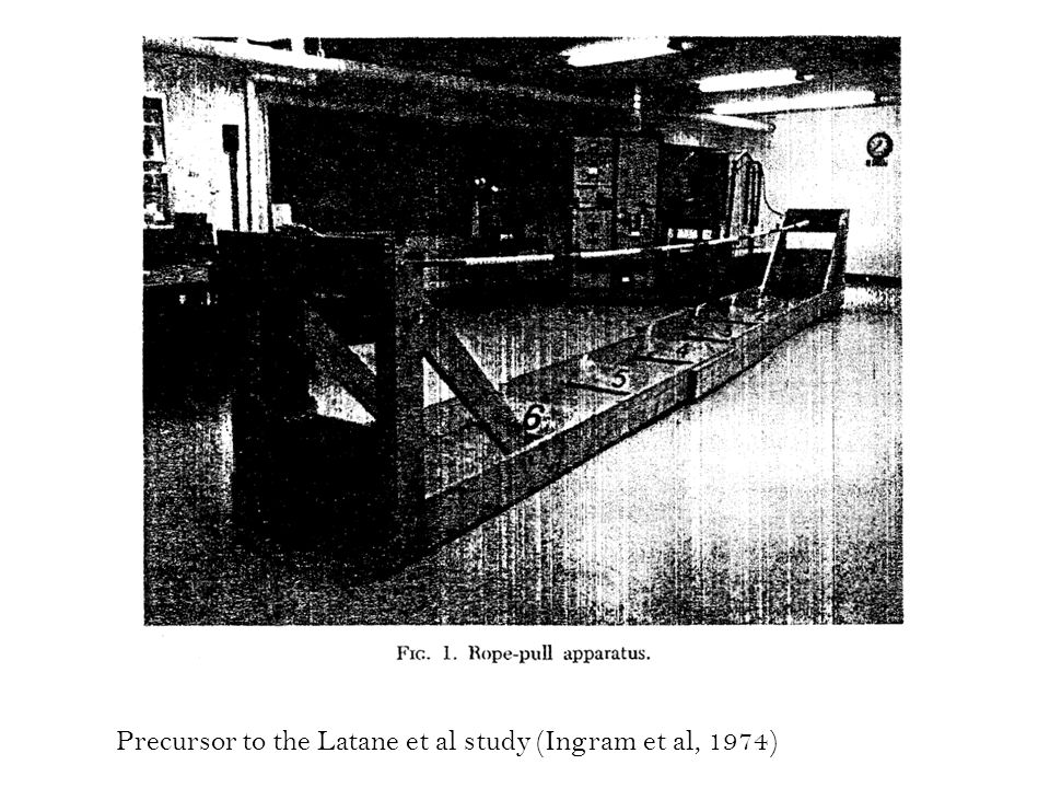 Precursor to the Latane et al study (Ingram et al, 1974)