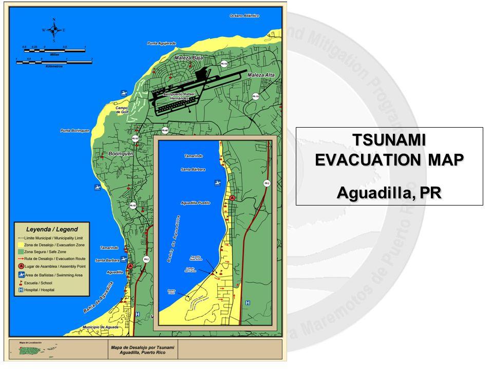 TSUNAMI EVACUATION MAP Aguadilla, PR