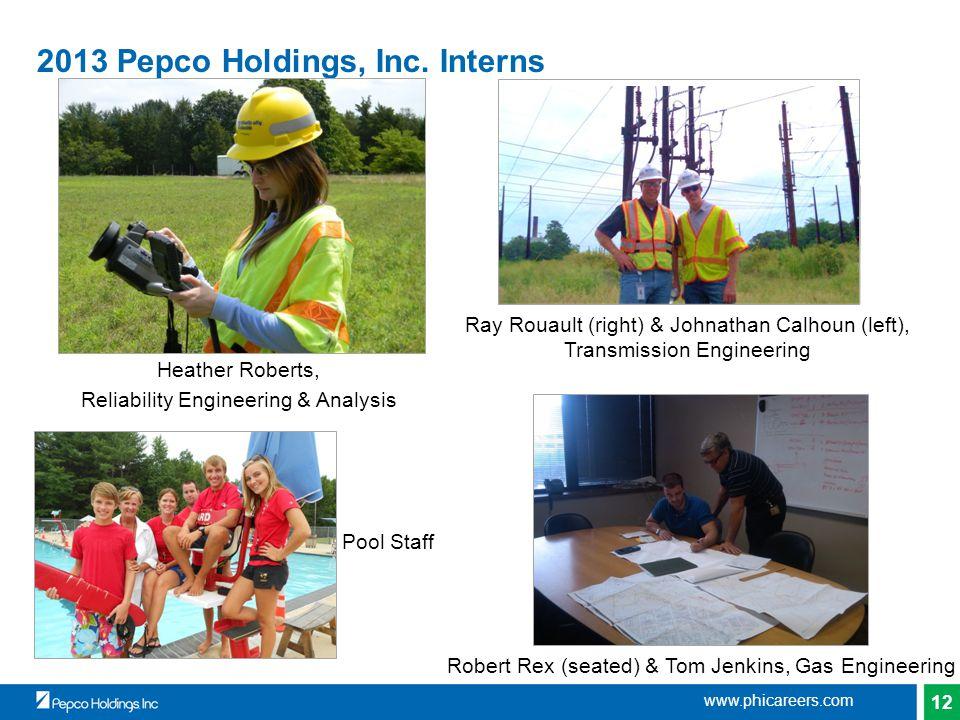 12 2013 Pepco Holdings, Inc.