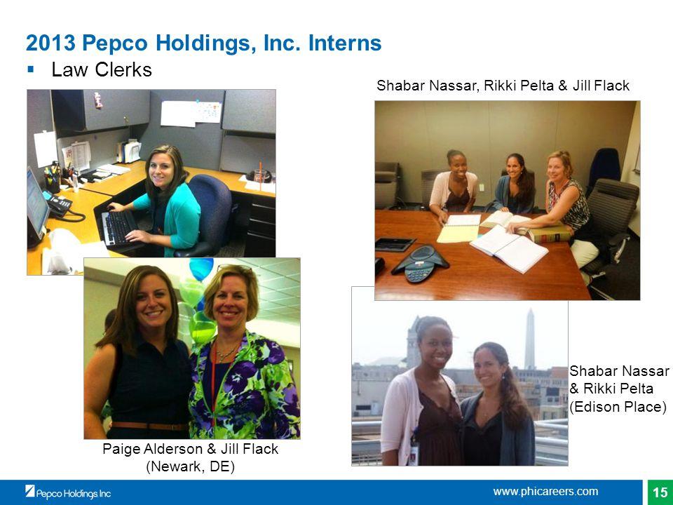 15 2013 Pepco Holdings, Inc.