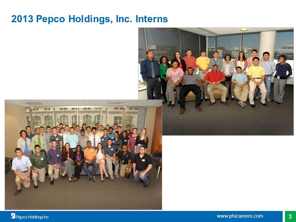 3 2013 Pepco Holdings, Inc. Interns www.phicareers.com