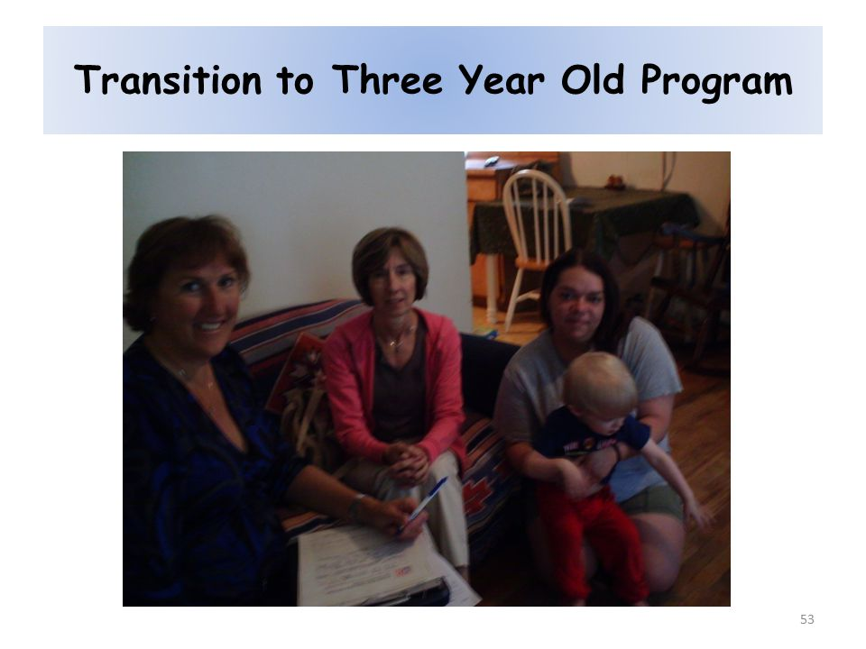 Transition to Three Year Old Program 53