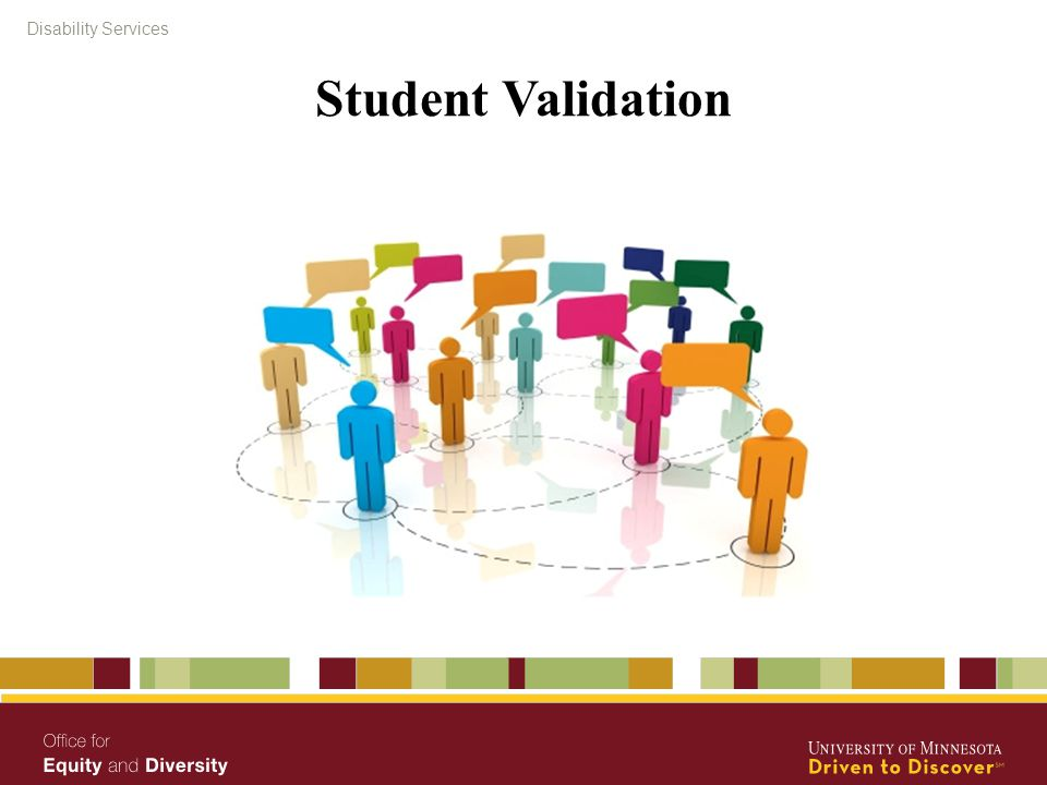 Disability Services Student Validation