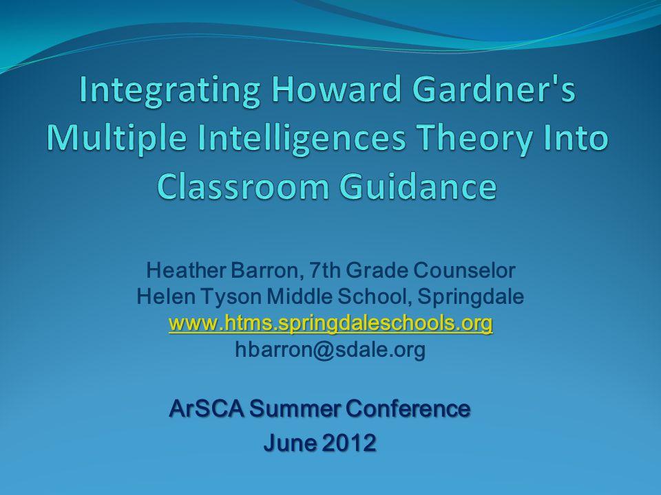 ArSCA Summer Conference June 2012 Heather Barron, 7th Grade Counselor Helen Tyson Middle School, Springdale www.htms.springdaleschools.org hbarron@sda