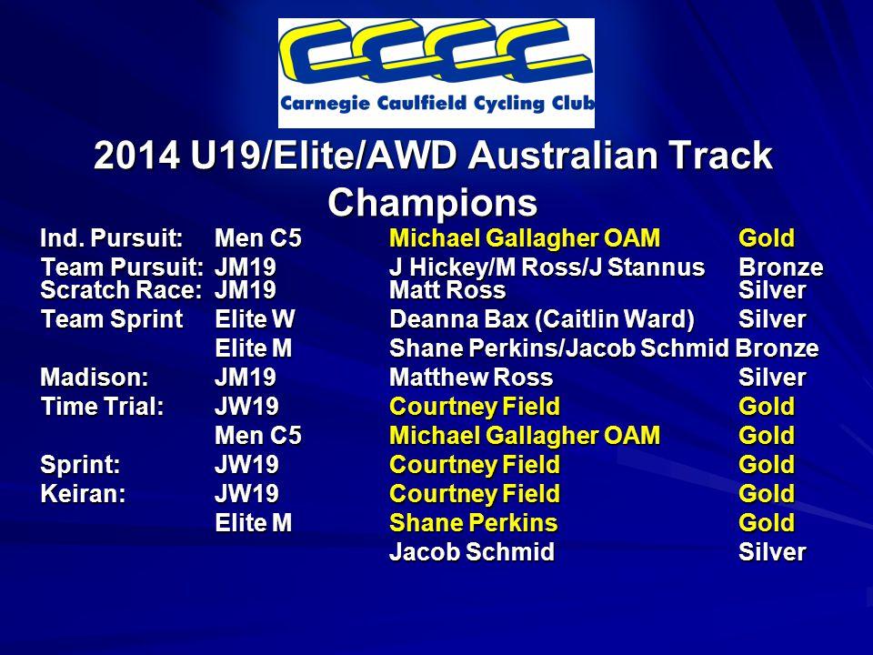 2014 U19/Elite/AWD Australian Track Champions Ind.