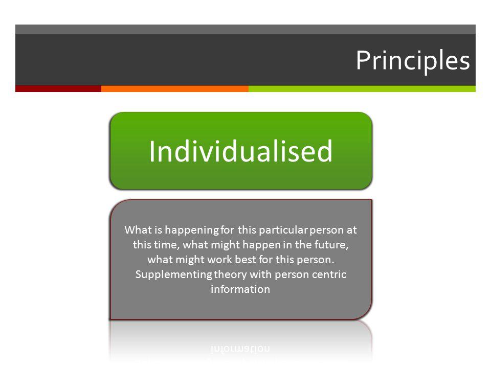 Principles Individualised