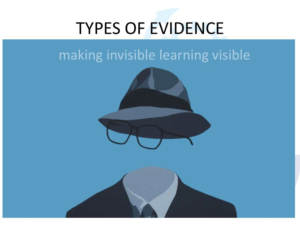 TYPES OF EVIDENCE Work based learning Learning by doing Case studies Reflective practice Clinical audit Coaching from others Discussions with colleagu