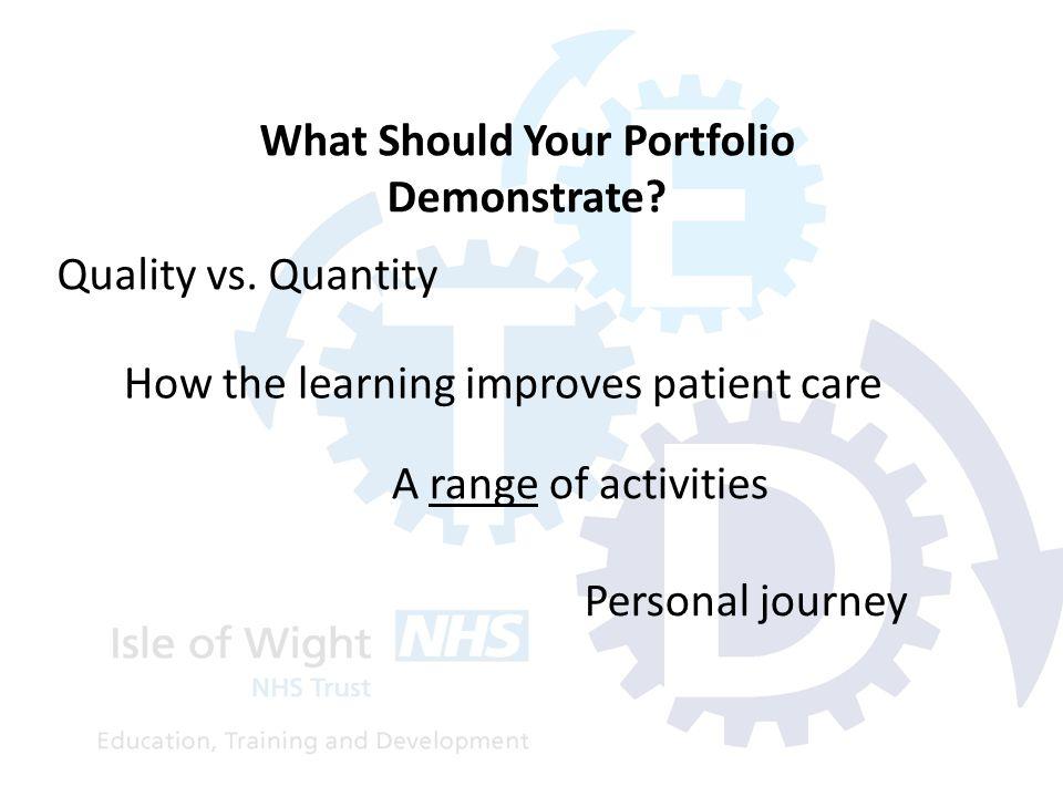 Quality vs. Quantity What Should Your Portfolio Demonstrate.