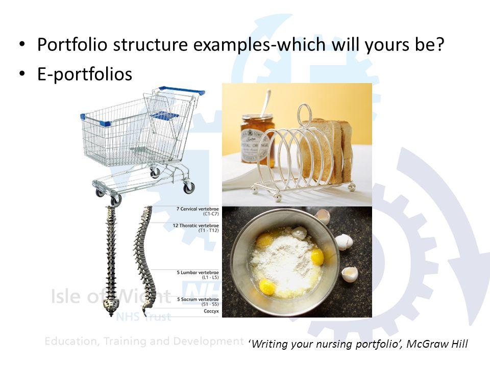 Portfolio structure examples-which will yours be? E-portfolios 'Writing your nursing portfolio', McGraw Hill