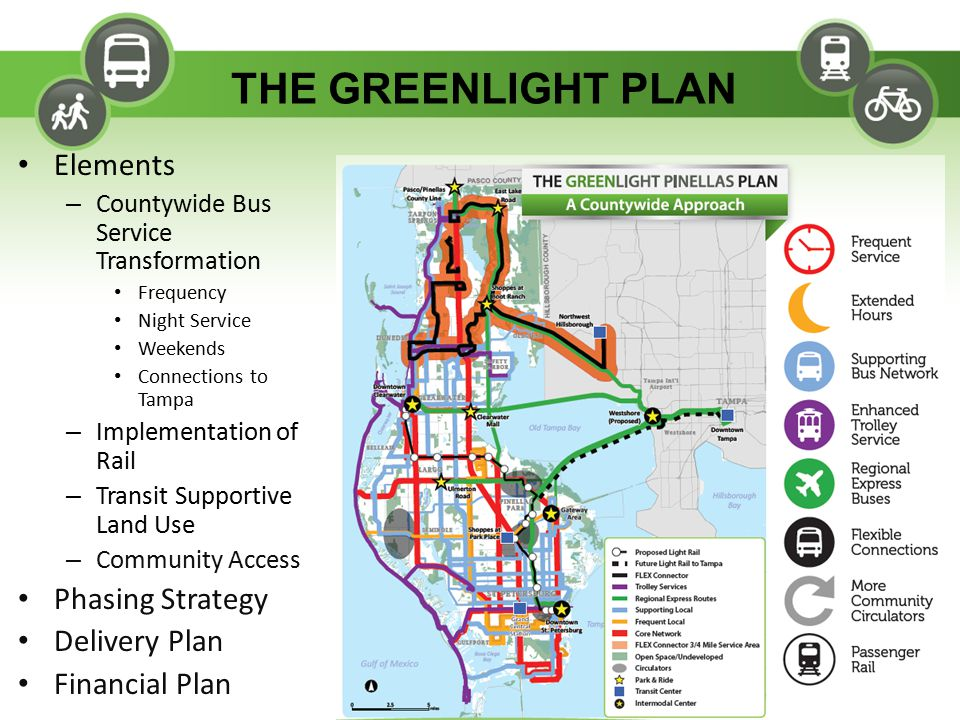 16 Greenlight Plan: Phasing Strategy 2014-2015 FY 2014 – Restructured network – Begin Safety Harbor Jolley Trolley service – Begin Saturday service on 100X Regional Express – Referendum - November FY 2015 – PSTA Property Tax Eliminated – Maintain/Expand service as possible with grants and reserves