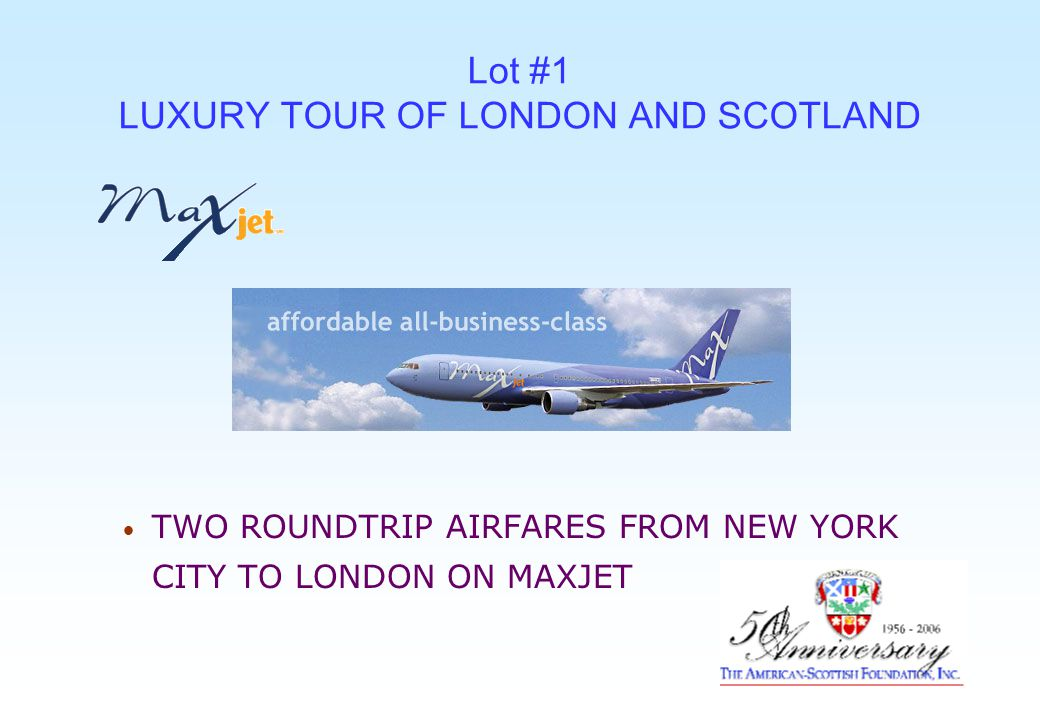 Lot #1 LUXURY TOUR OF LONDON AND SCOTLAND DRINKS AT THE HOUSE OF LORDS, LONDON, ENGLAND WITH THE EARL OF CAITHNESS