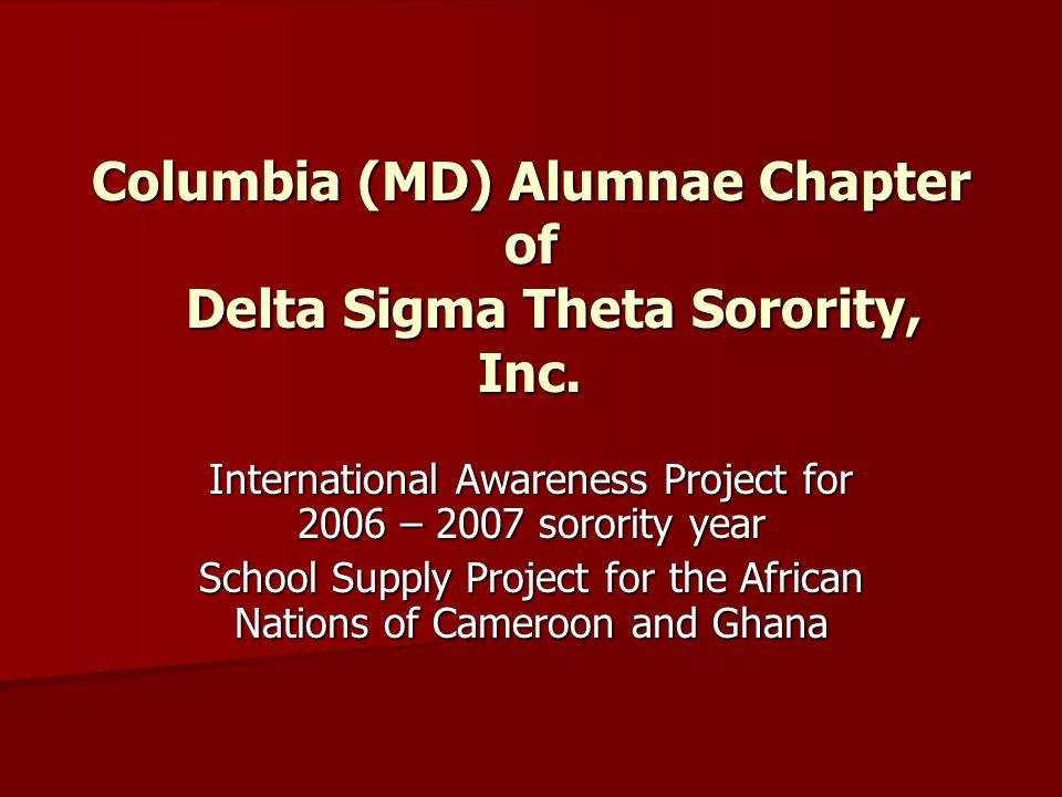 Columbia (MD) Alumnae Chapter of Delta Sigma Theta Sorority, Inc.