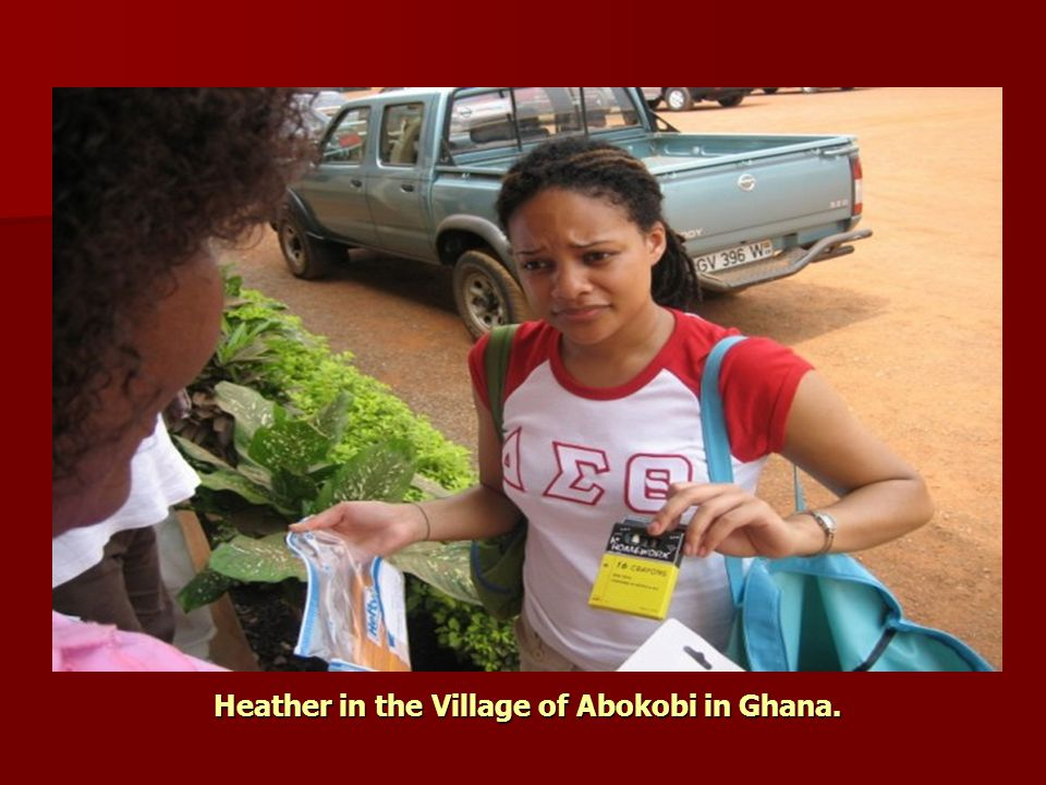 Heather in the Village of Abokobi in Ghana.