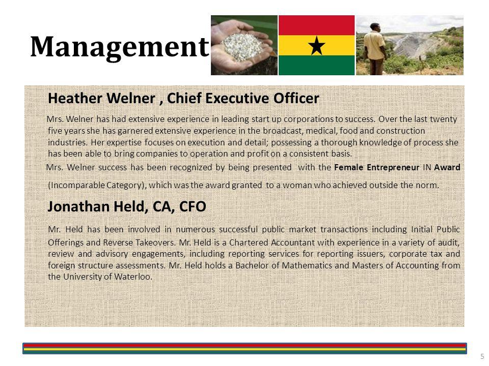 Management Heather Welner, Chief Executive Officer Mrs.