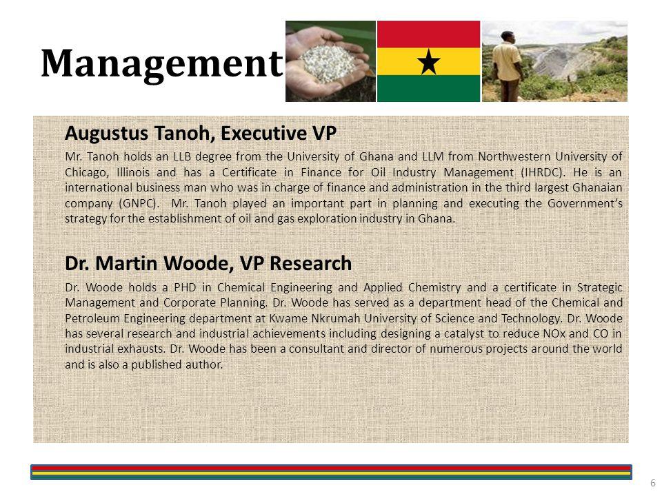 Management Augustus Tanoh, Executive VP Mr.