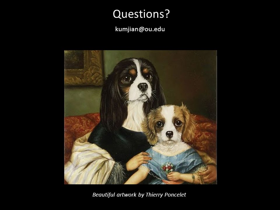 Questions kumjian@ou.edu Beautiful artwork by Thierry Poncelet
