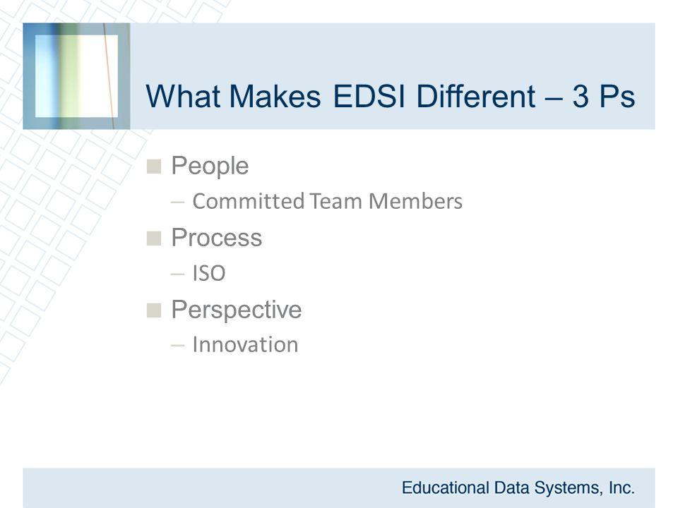 Meet the EDSI Corporate Staff