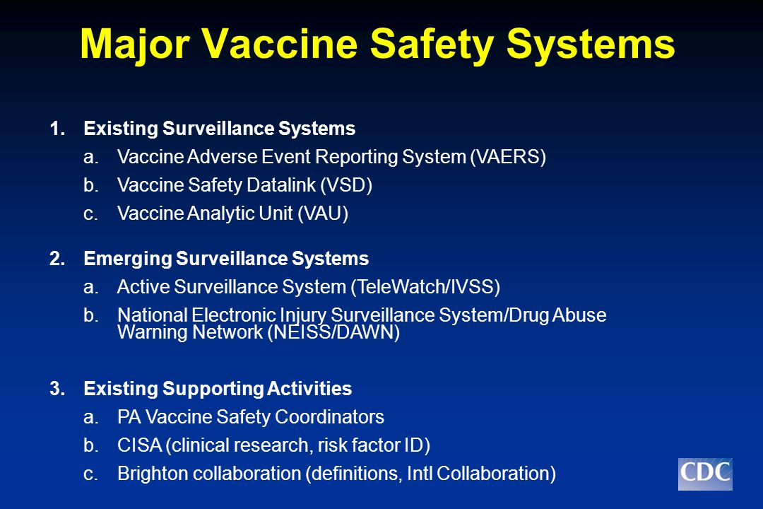 Existing System #1: VAERS  VAERS is a national passive surveillance system, allows for the collection and analysis of AE of U.S.