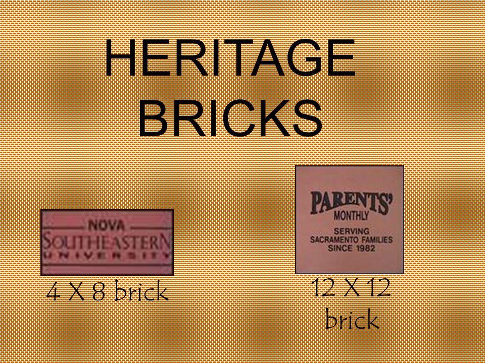 4 X 8 brick 12 X 12 brick HERITAGE BRICKS