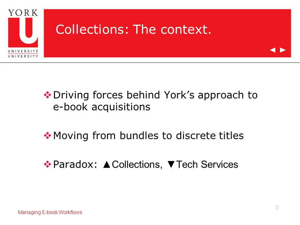 3 Managing E-book Workflows Collections: The context.