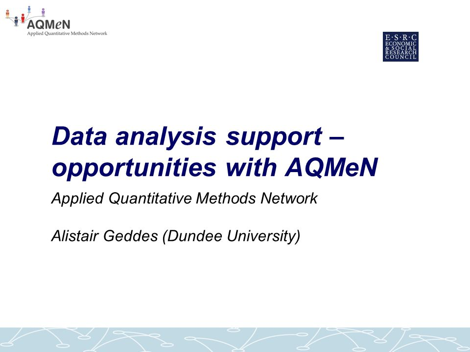 A collaborative network to raise quantitative expertise and capacity in social sciences within Scotland