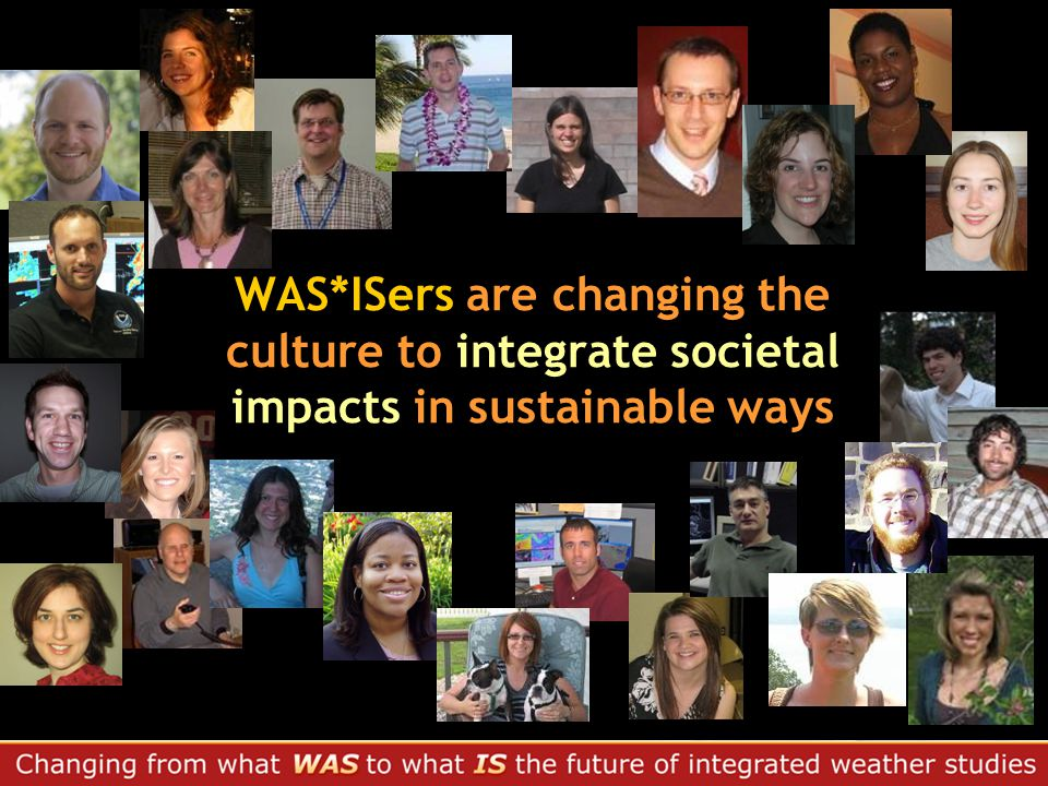 WAS*ISers are changing the culture to integrate societal impacts in sustainable ways
