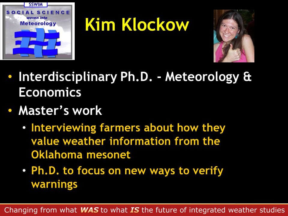 Kim Klockow Interdisciplinary Ph.D.