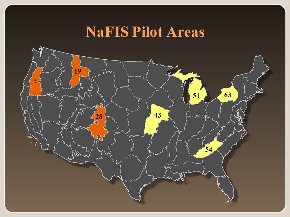 7 19 28 43 51 54 63 NaFIS Pilot Areas 7 19 28 43 51 54 63