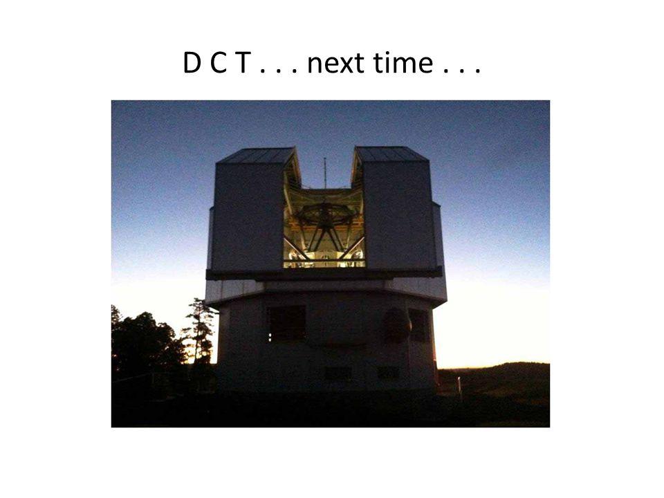 D C T... next time...