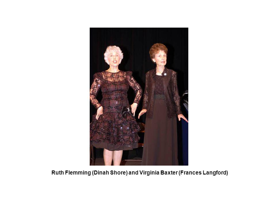 Ruth Flemming (Dinah Shore) and Virginia Baxter (Frances Langford)
