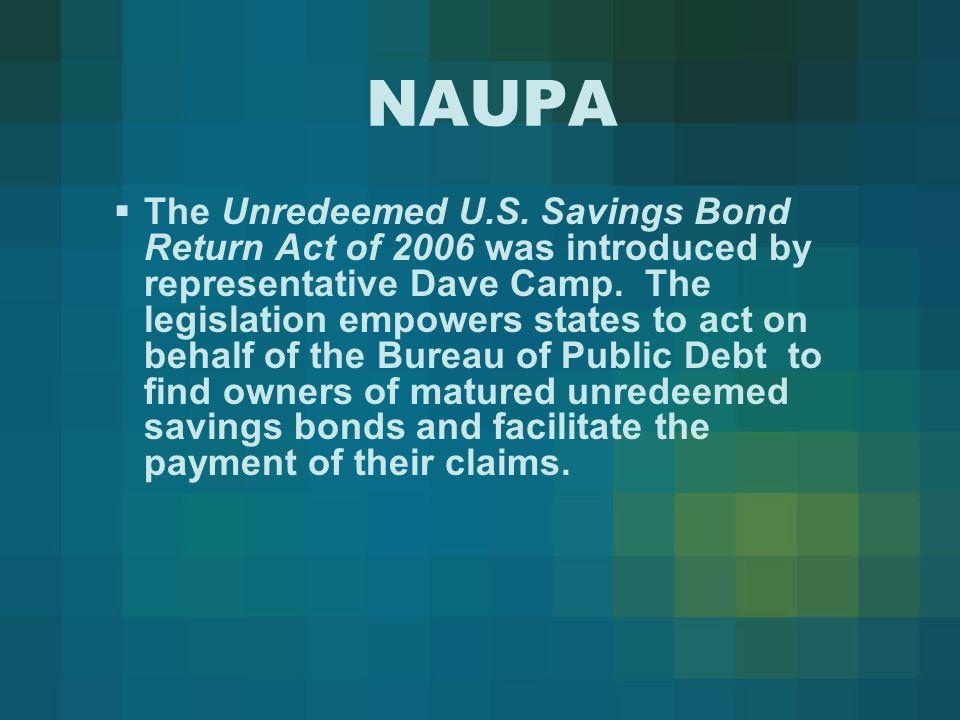NAUPA  The Unredeemed U.S.