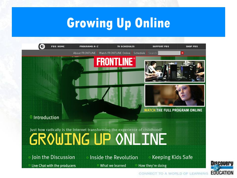 Growing Up Online