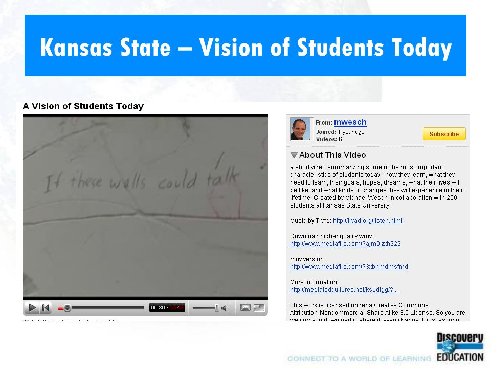 Kansas State – Vision of Students Today