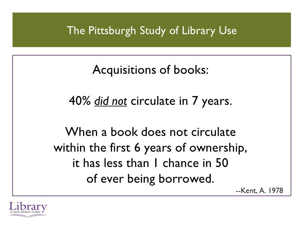 Do current books circulate more.