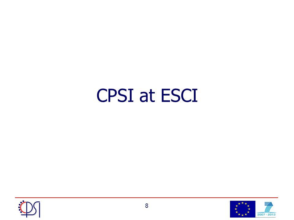 8 CPSI at ESCI