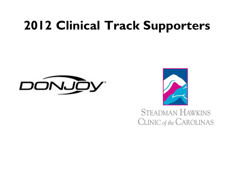 2012 Clinical Track Supporters