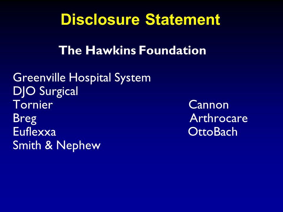 Disclosure Statement Jason Folk, MD Consultant for Smith&Nephew Endoscopy