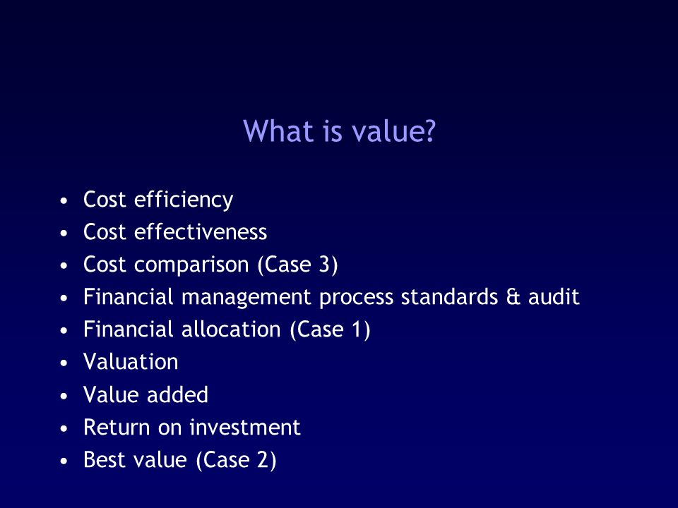 What is value.