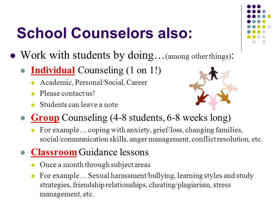 The bottom line… School counselors do what is needed to: Advocate for students, support students and families Support teachers and the school Meet students where they are, meet the needs of ALL students (equitable access to services!) Provide resources Work collaboratively so that EVERYONE has the BEST possible experience here at Sandburg … the goal is STUDENT SUCCESS.