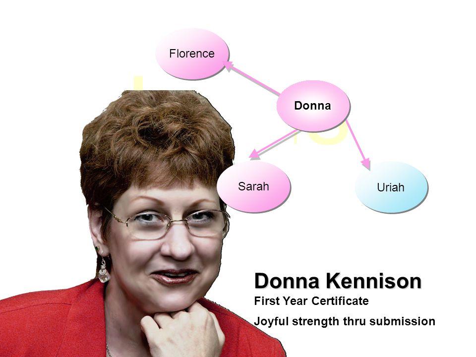 Jesus Uriah Sarah Donna Kennison First Year Certificate Florence DonnaDonna Joyful strength thru submission