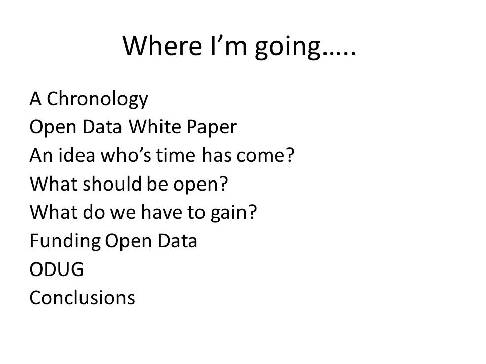 Open Data White Paper
