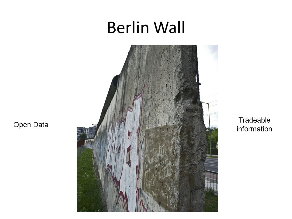 Open Data Tradeable information Berlin Wall