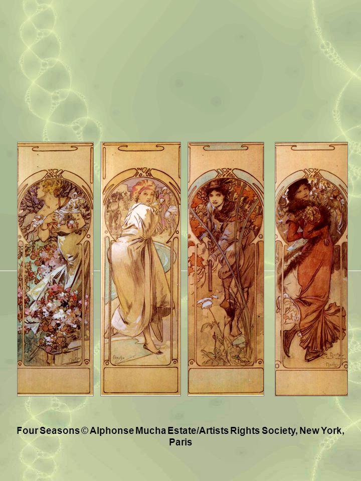 Four Seasons © Alphonse Mucha Estate/Artists Rights Society, New York, Paris