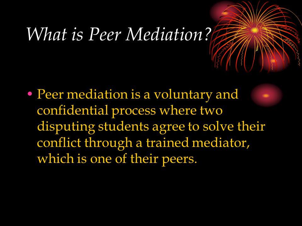 What is Peer Mediation.