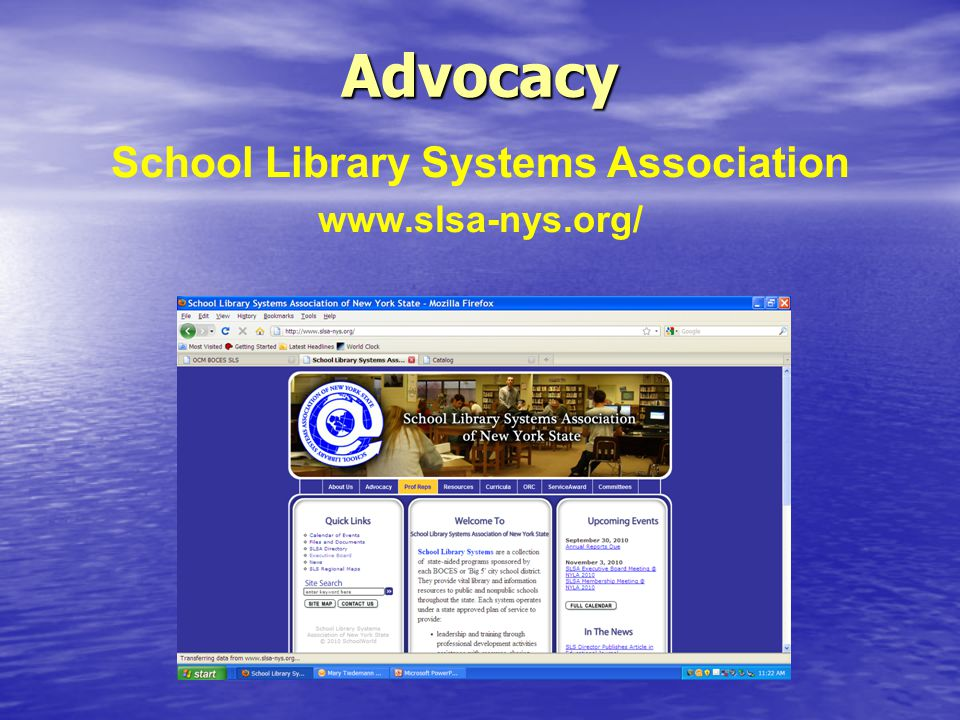 Advocacy School Library Systems Association www.slsa-nys.org/