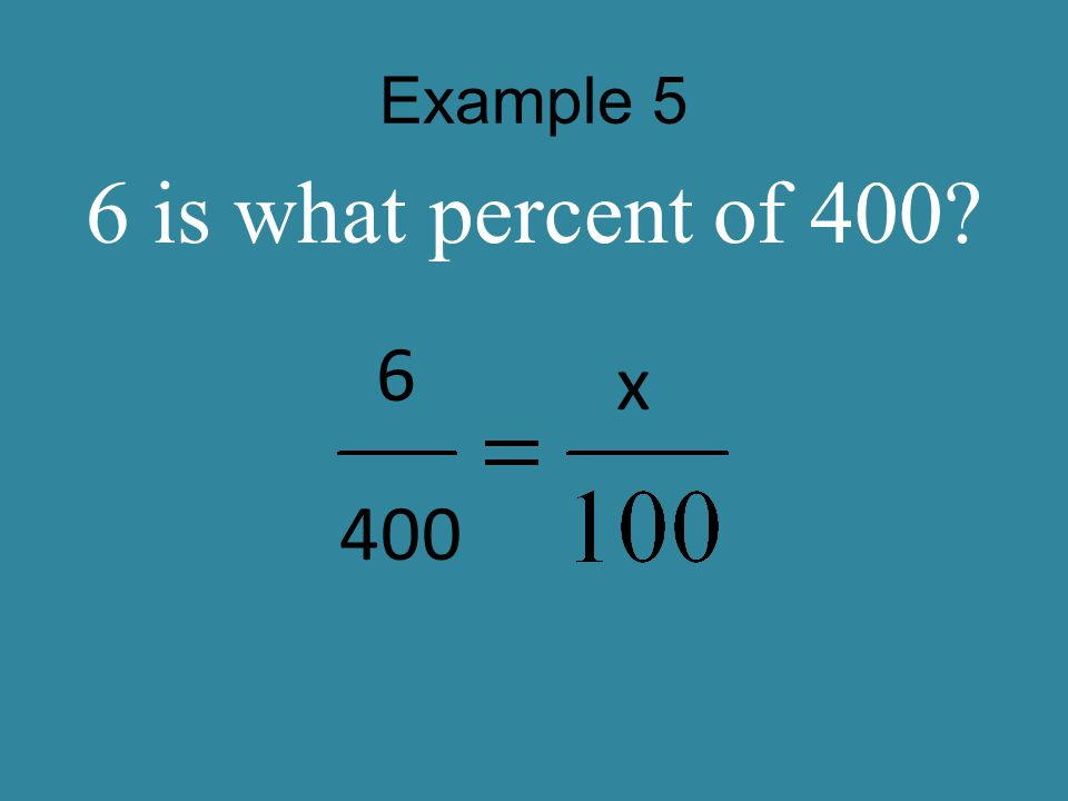 Example 6 102.9 is what percent of 105? 102.9 105 x