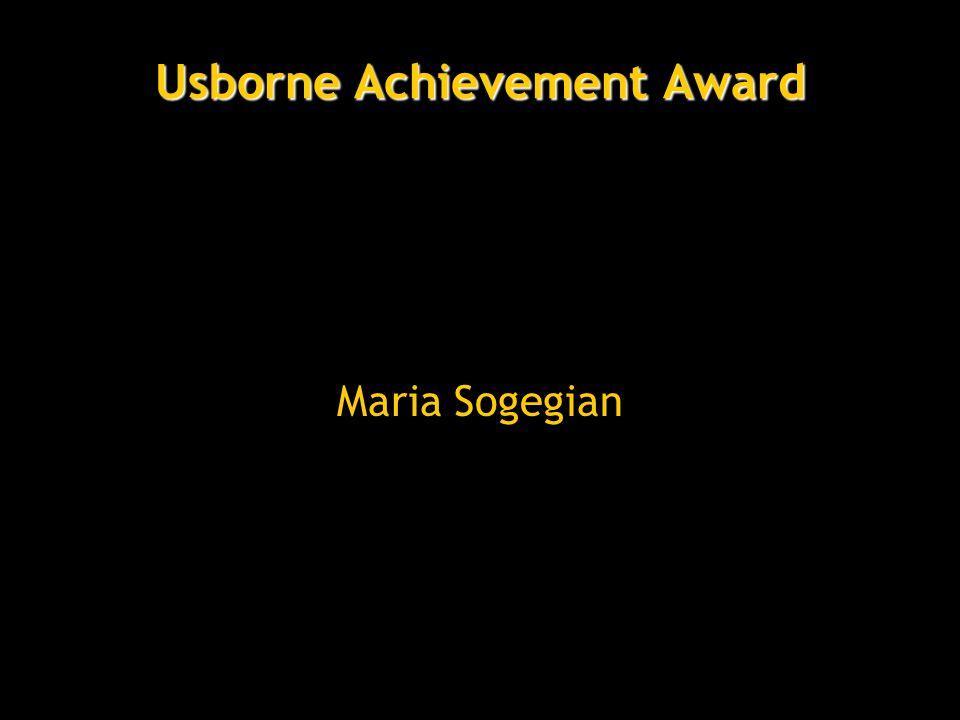 Usborne Achievement Award Maria Sogegian