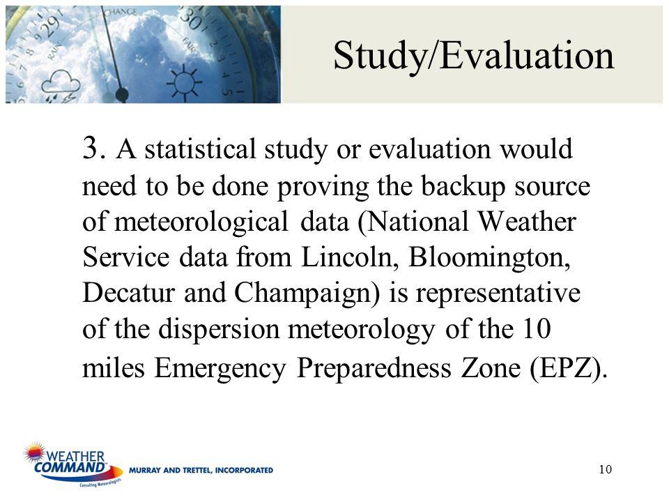 Study/Evaluation 3.